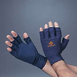 Anti Impact Glove Liner, Padded, Three Quarter Finger, Pair, XLarge