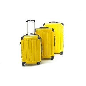 3 er Hartschalen Kofferset Trolleys gelb 130l,87l,45