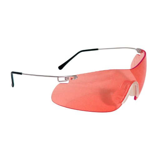 Radians Clay Pro Shooting and Safety Glasses (Silver Frame, Vermillion Lens)