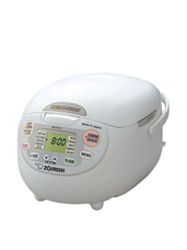 Zojirushi NS-ZCC18WZ Neuro 10-Cup Fuzzy Rice Cooker & Warmer