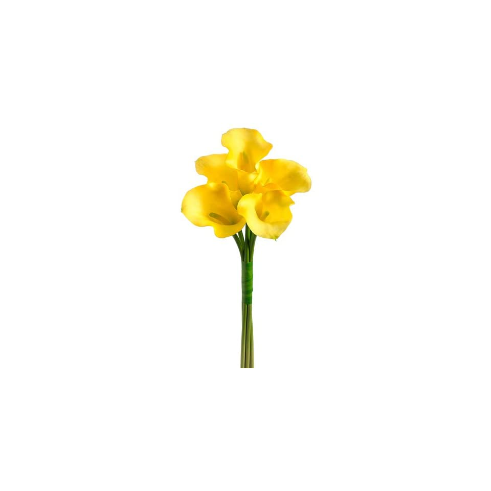 21 Calla Lily Bouquet X5 Yellow (Pack of 6)