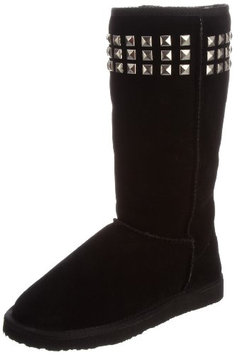 Ukala Women's Ella Black Knee High Boots Ukw80011 5 UK