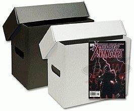 Bundle-of-10-Short-White-PLASTIC-Comic-Storage-Boxes