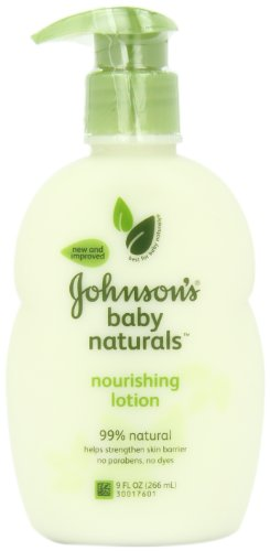 Johnson's Natural Nourishing Baby Lotion, 9 Ounce (Pack of 2)