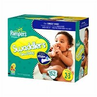 Pampers Swaddlers Dry Max Diapers, Size 2-3 152-Count