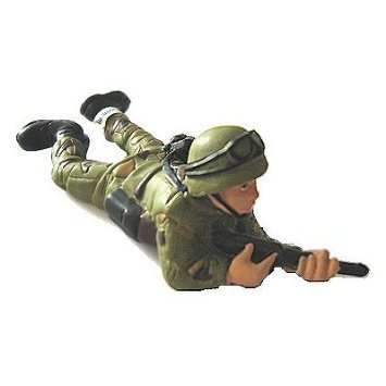 Bullyland - Lying Soldier Figurine French version