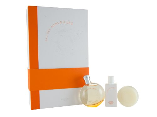 Hermès Eau Des Merveilles, Geschenkset: Eau de Toilette 50 ml + Lotion 40 ml + Marvelous Body Soap 50 g, 1er Pack (1 x 140 ml)