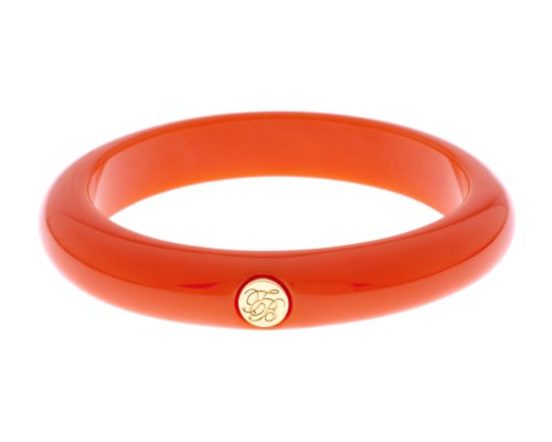 Ted Baker Orange and Gold Ryleey Resin Button Bangle