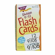Trend Enterprises T53106 Math Flash Cards, Division, 0 To 12, 3 in.x5-7/8 in. - 1