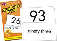 Trend Skill Drill Flash Cards, 3 x 6 Inches, Numbers, 0-100 (TEPT53107)