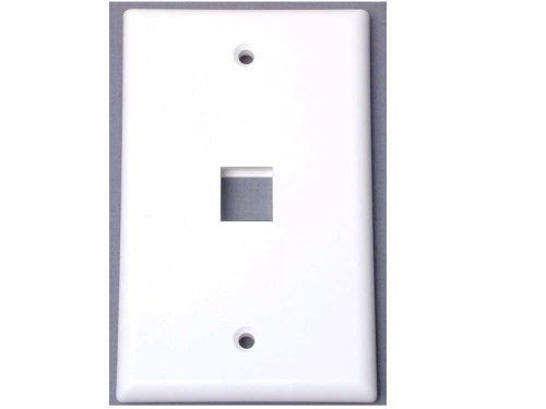 Startech.Com Single Outlet Rj45 Universal Wall Plate Including Plate1Wh White 1-Outlet