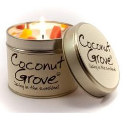 Lily-Flame Coconut Grove Tin, White by Lily Flame