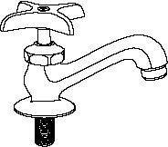 Central Brass 0239-AH Basin Faucet – Hot With Aerator, Chrome