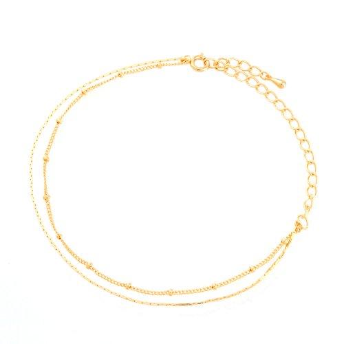 Jewelry Shop M キラキラチェーンアンクレット gold (a9066G)