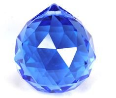 40mm Asfour Crystal Ball Prisms #701-40 (Blue)