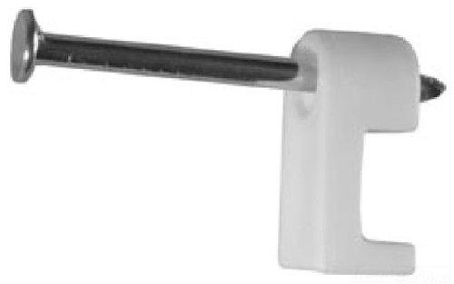 L.H. Dottie PLX250B Staple, 1 Nail, 1/4-Inch, Black, 500-Pack