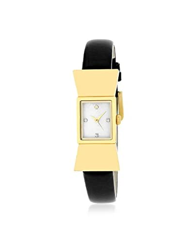 kate spade new york Women's 1YRU0068 Carlyle Black/White Stainless Steel and Leather Watch