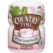 Country Time Pink Lemonade Flavor Drink Mix- Pack of 2 Canisters (19 oz each)