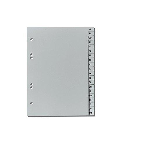 Ordner Register A-Z / DIN A5 / aus PP / Farbe: grau