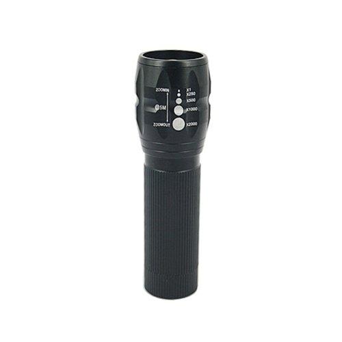 Hde 3 Mode Zoom Focus Super Bright 240 Lumen Led Torch Flashlight