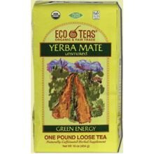 Eco Teas Tea, 100% Organic, Yerbe Mate, Lse, Tr, 1 Lb (Pack Of 6 ) front-64204