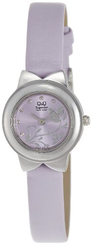 Q & Q Analog Purple Dial Women's Watch - S067-372Y (violet)