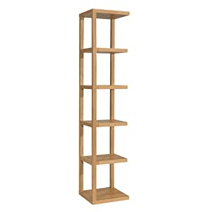 Worldstores Ontario Oak Display Unit 5 Shelves Tall