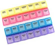 28-Day, 1 Compartment Per Day, 4 Week Monthly Medtime Planner front-308005
