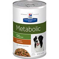 Hill's Prescription Diet Metabolic Weight Management Vegetable & Chicken Stew Canned Dog Food 12/12.5 oz