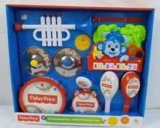 Fisher Price 10 Piece Band Set Plus Musical Monkey Piano (Fisher Drum Set compare prices)
