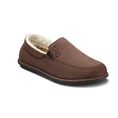 Dr Comfort 'Relax' Closed Heel Slippers - Men 's - Camel or Chocolate - Ultra Comfort for Sensitive Feet - Includes Removable DRC Gel Insoles | Free UK Size Exchange Returns | 6 UK | EU 39 ( Chocolate )