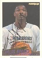 Carlos Rogers Golden State Warriors 1994 Fleer Autographed Hand Signed Trading Card -... by Hall of Fame Memorabilia