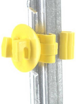 Dare Products Snug-Stp-25 Electric Fence Insulator, T-Post, Snug-Fit, Yellow, 25-Pk. - Quantity 20