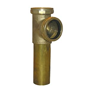 LASCO 03-4021 1-1/2-Inch Rough Brass Slip Joint End Outlet