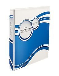 Avery-Dennison 18601 Designer View Binder with Slant Rings, Blue Circles - 1 in.