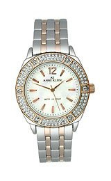 AK Anne Klein Swarovski crystals Mother-of-pearl Dial Women's watch #10/9601MPRT