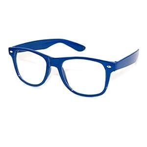 Royal Blue Glasses Frames : Amazon.com : Fashion Retro Vintage Unisex Clear Lens ...