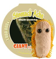 KEY CHAIN Giant Microbes MINI (Mini - Miniature in Size - 2-3 Inches) Stomach Ache (Shigella)