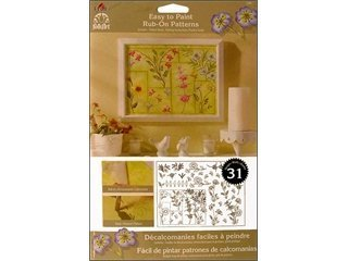 FolkArt Easy to Paint, 5200 Rub-On-Wildflowers