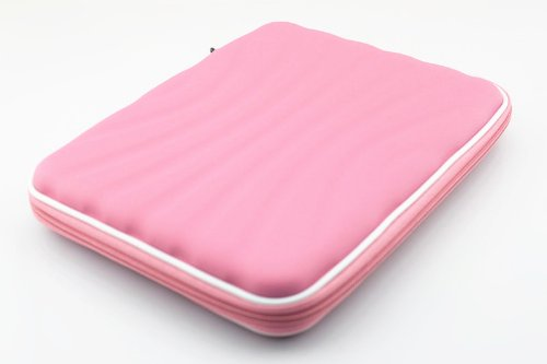 〈I-Accessary〉〈新入荷〉〈新発売〉〈カラー豊富〉〈全5色〉〈内蔵スピーカー!!〉iPad mini & Galaxy Note 8.0シリーズ通用 スピーカーポーチ型  防水ソフトケース ステレオスピーカー機能付き スタンド機能有り 超薄型  縦縞柄  無地  凹凸感  いい手触り  耐磨き/耐衝突  8inch soft case with speaker for iPad mini & Galaxy Note 8.0 (ピンク) pink