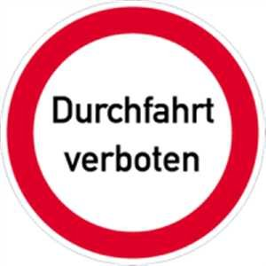 schild verbotsschild durchfahrt verboten 40cm alu baumarkt. Black Bedroom Furniture Sets. Home Design Ideas