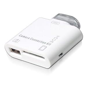 iPad/iPad2/ipad3 用 2in1 コネクションキット (SDカードリーダー/USBポート)