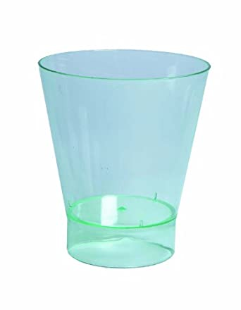 PacknWood 209MBPAVLOS PAVLOS Recyclable Plastic Cup, 6 oz. Capacity, Transparent Green (Pack of 200)