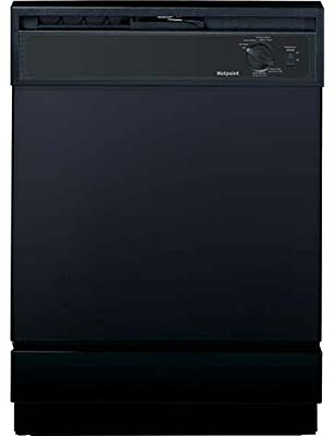 "HOTPOINT GIDDS-632139 Built-In 24"" Dishwasher, Black, 5 Cycles/2 Options"