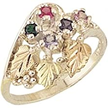 buy Black Hills Gold Silver Mother'S Ring - 4 Stones - Mr925
