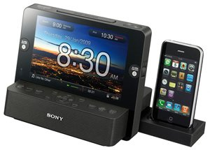 LCD Clock Radio w/ Dock for iPhone LCD Clock