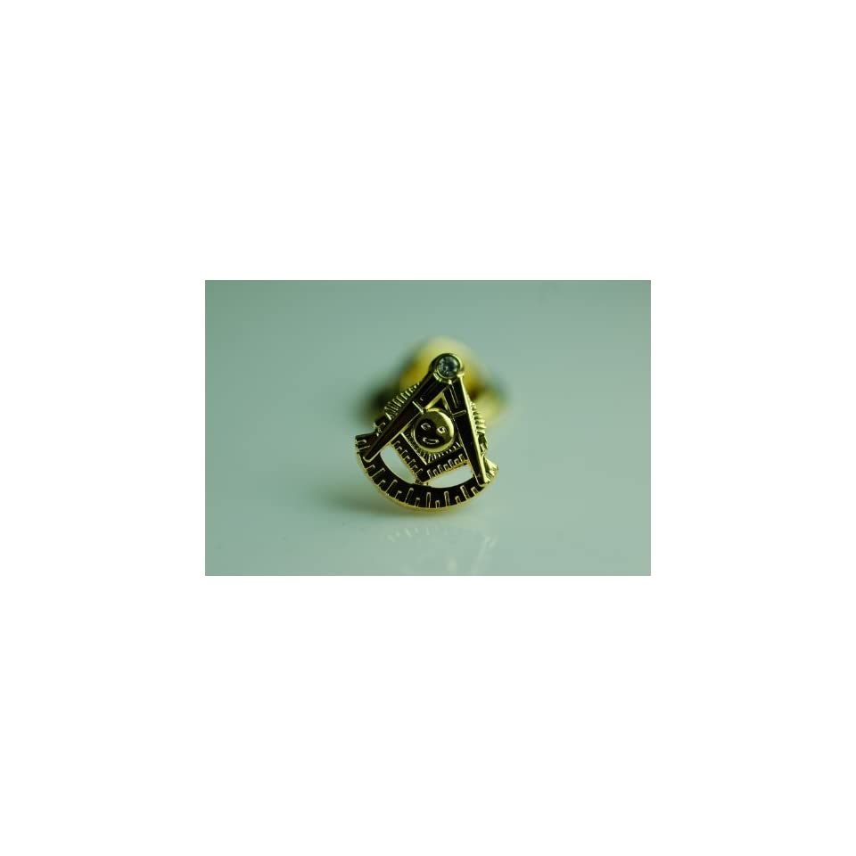 Lapel Pin Masonic Past Master with Rhinestone