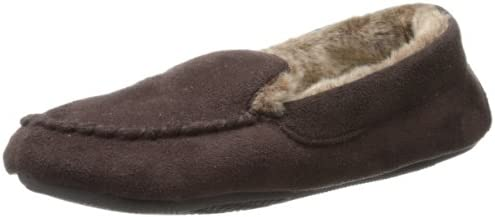 Isotoner Women39s Moccasin Slipper with Faux-Fur