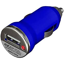 BC 96696 USB Car Charger for Samsung Galaxy S4, Samsung Galaxy S II, Samsung Galaxy SIII, Nokia Lumia 520, Nokia Lumia 720 (Blue)