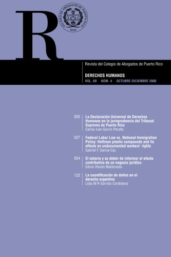 Revista Del Colegio De ABogados De Puerto Rico VOL. 69 NÚM.4: Derechos Humanos (Spanish Edition)